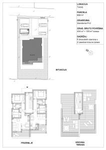 Apartmanska zgrada u Turnju nacrti