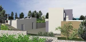 Moderna Vila u Rtini, pomoćna zgrada s parkingom